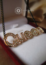 "Crystal/Simulated Diamond//Rose Gold Plated/""Queen""Pendant&Necklace/RGN420"