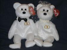 TY MR & MRS BEANIE BABY BEAR WEDDING SET - MINT with MINT TAGS