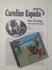 """THE PRODIGY """"THE FAT OF THE LAND"""" RARE SPANISH CD+PRESS DOSSIER / HOWLETT"""