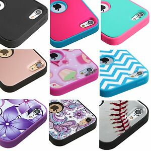 For iPod Touch 5th 6th 7th Gen - Hybrid Hard & Soft Armor Impact Case Cover Skin