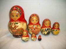 Large Matryoshka Russian Nesting Doll Set, 7 Dolls