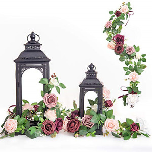 Ling's moment Handcrafted Rose Flower Garland Floral Arrangements Pack of 6 for