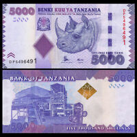 TANZANIA 5000 (5.000) Shillings 2015  Pick- 43b NEW UNC