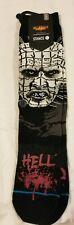 Hellraiser Inferno Stance Socks New NWT Black Crew Horror Cotton Large 9-12