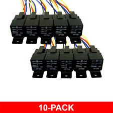 10 Pack 12V 30/40 Amp 5-Pin SPDT Automotive Relays+Wires & Harness Socket Sets