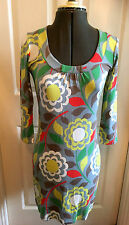 Boden Multi Colour Floral Knee Length Dress 8