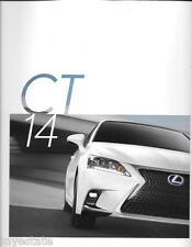 2014 14  Lexus CT original sales brochure