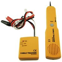Telephone Cable Tracker Wire Tracer Tester Sender & Receiver Kit Tone Continuity