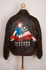 Vtg AVIREX A-2 'My Aim Is True' USAAF Flight Leather Jacket Medium/Large
