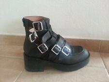 *JEFFREY CAMPBELL*Boots*Buckles*UK7 EU 40/41*Goth*Punk*Comfy*cut out design*