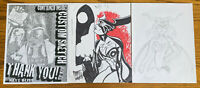LOT OF 2 TAROT WITCH OF THE BLACK ROSE ORIGINAL SIGNED ART SKETCHES 8.5 x11