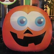 5 FT HALLOWEEN AIRBLOWN INFLATABLE PUMPKIN JACK-O-LANTERN MOVING EYES ANIMATED