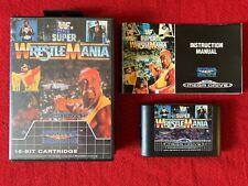 SUPER WRESTLEMANIA Sega Mega Drive COMPLETE Box Manual VGC UK PAL