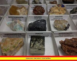 Minerals Cajita Collection Box 4x4 CMS - Spain And Portugal - Minerals Minerais