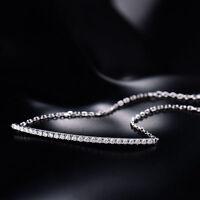 18ct White Gold and Natural Diamonds Tennis Bracelet VVS