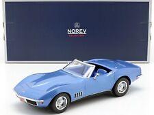 NOREV189035 - Voiture cabriolet sportif CHEVROLET Corvette de 1969 de couleur bl