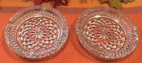 Beautiful Set of Vintage Round Heavy Clear Pressed Glass Ashtrays 5.5""