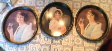 Lot Of 3 Vintage Oval Coca Cola Drink Trays