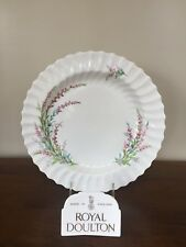 """Royal Doulton BELL HEATHER SCALLOPED 12"""" Chop Plate Round Platter"""
