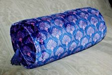 Art Deco Velvet Bolster cushion with pad