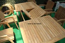 Di alta qualità legno di teak da giardino set con 6 sedie e tavolo allungabile