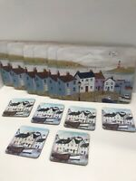 Vintage Placemats Coasters Ocean Nautical Art Cork Back Small Set of 6