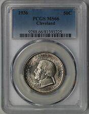 1936 Cleveland 50C PCGS MS 66 Early Silver Commemorative Half Dollar