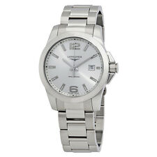 Longines Conquest Silver Dial Stainless Steel Mens Watch L37594766