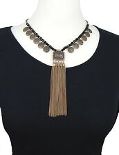 Statement Kette gold schwarz by Ella Jonte Halskette Perlen Ethno Collier new in