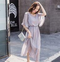 Waist Dress Spring Summer Korean Fashion Girl Skirt Women Slim 1/2 Sleeve New