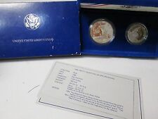 1986 US Statue of Liberty Proof 2 Coin Commemorative Set