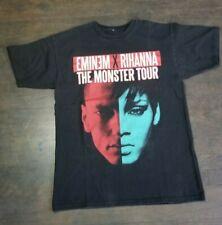 Eminem & Rihanna The Monster Tour Concert Shirt Double Sided Size
