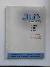 original Prospekt ILO L100 125 150 PINNEBERG ERSATZTEILLISTE 1956 SAMMLER 74 S