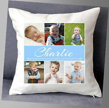 "PERSONALISED PHOTO BABY FRIENDS GROUPS NAME CUSHION COVER 16""x16"""