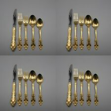 20pc SET - Oneida Gold Electroplate GOLDEN ARTISTRY Service for Four *