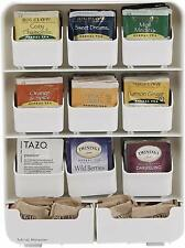 Tea Bag Storage Box Condiment Organizer Display Chest Holder Kitchen New White