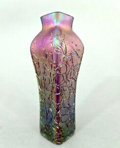 (L0214) Jugendstil Glas Vase, Kralik oder Umfeld, Böhmen um 1900, Höhe = 20 cm