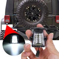 2x Rear Bumper SMD LED License Plate Light Tag Lamp For Jeep Wrangler JK JKU