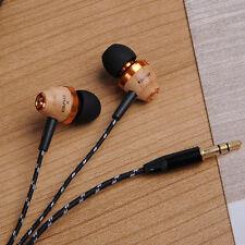 Super Bass Stereo Earphones In-Ear Headset Awei ES-Q5 Wooden Headphones New