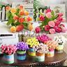 15 Heads Silk Flower Artificial Fake Rose Bouquet Leaf Wedding Party Home Decor