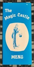 *Hollywood Magic Castle* Vintage Dinner Menu 1980's Academy of Magical Arts