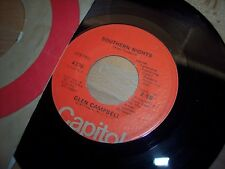 """VG++ 1977 Glen Campbell Southern Nights / William Tell Over 7"""" 45RPM w/ppr slv"""