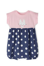 NEW Jack & Milly Elki Knit Rompoer with Bunny Applique - Pink/Navy MNS19005 Pink