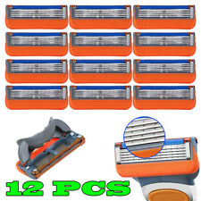 12pcs Men's 5 Razor Blades Replacement For Gillette Fusion ProGlide