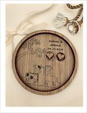 Wedding Ring Bearer Tray, Dish, Plate: Personalised Farm, Farmer Cow & Bull.