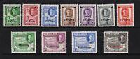 British Somaliland #116-126 mint, cat. $ 55.95