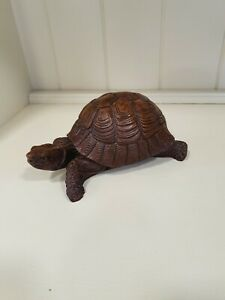 Large Solid Wood Tortoise Ornament