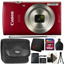 Canon IXUS 185 / ELPH 180 20MP Digital Camera Red and 64GB Accessory Kit