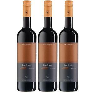3x WV Freyburg-Unstrut Dornfelder Rotwein Wein halbtrocken Deutschland