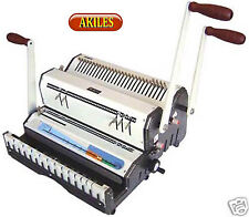 Akiles Duomac-421 Binding Machine & Punch 4:1 Coil & 2:1 Wire [New] Dual Use